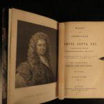 1865 Samuel Pepys Diary & Correspondence Life in London Great Britain 4v SET