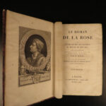 1813 Romance of the ROSE Guillaume de Lorris Medieval French Poetry BEAUTIFUL