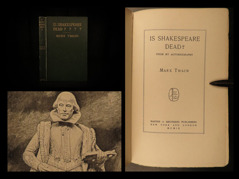 Image of 1909 1ed Mark Twain Is Shakespeare Dead? Francis Bacon Authorship Plays English