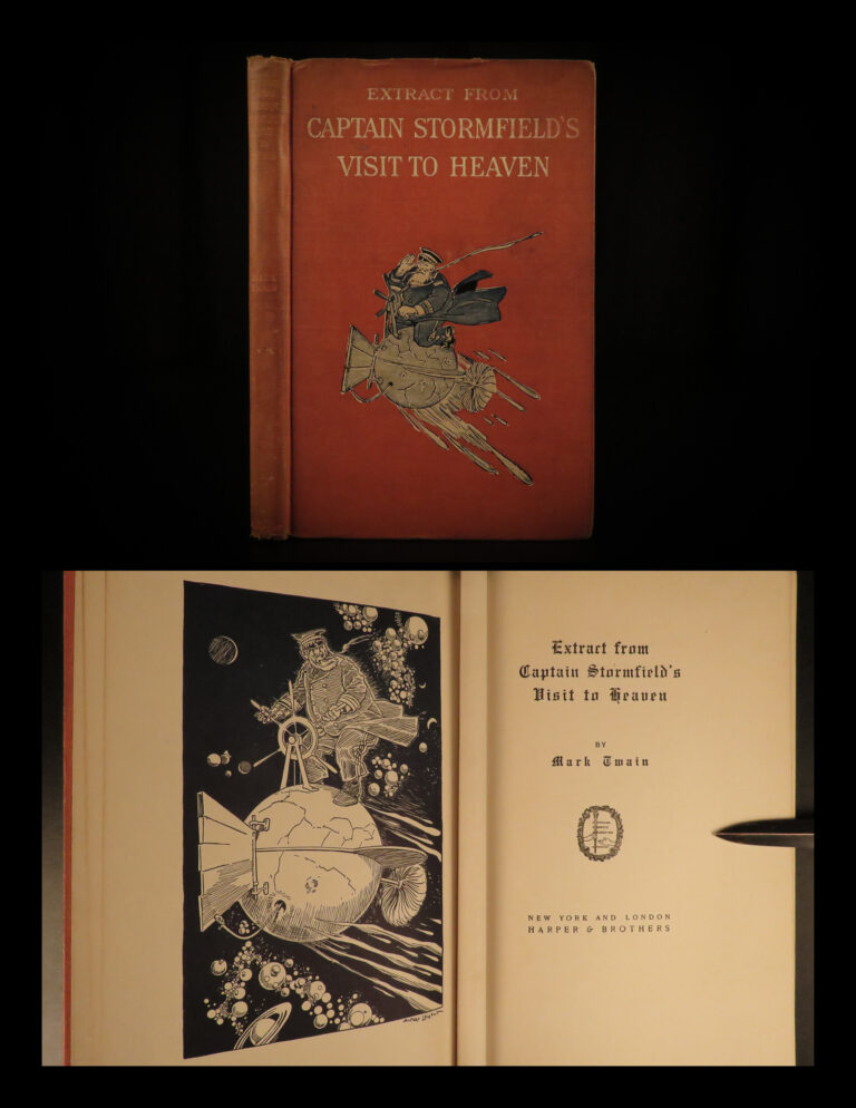 Image of 1909 1st ed Mark TWAIN Last Book Captain Stormfield's Visit to Heaven