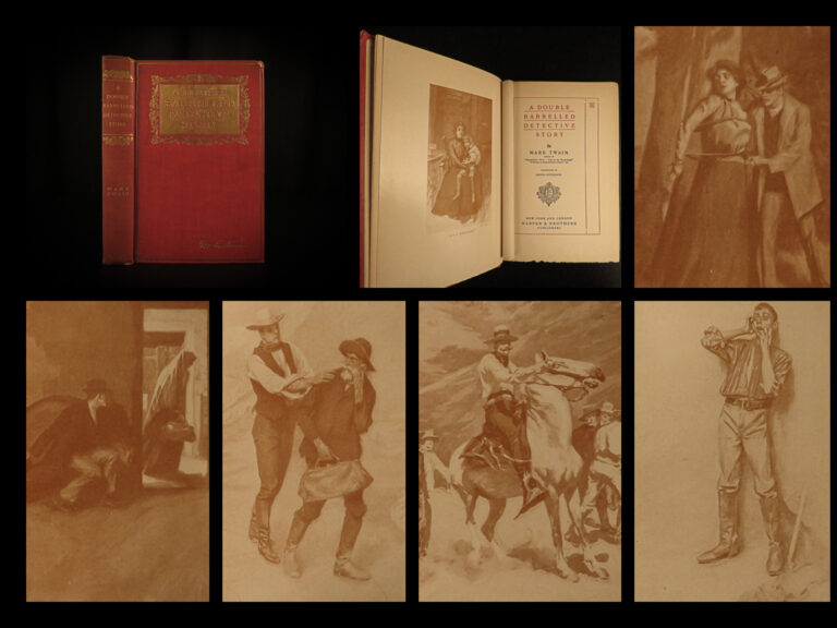 Image of 1902 1st ed Mark TWAIN Double Barrelled Detective Sherlock Holmes RARE