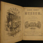 1841 Robert Merry Museum American History Voyages Indians Egypt Dinosaurs 9v SET