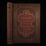1863 1ed Adventures of Robinson Crusoe Defoe Voyages Shipwreck English Cassell