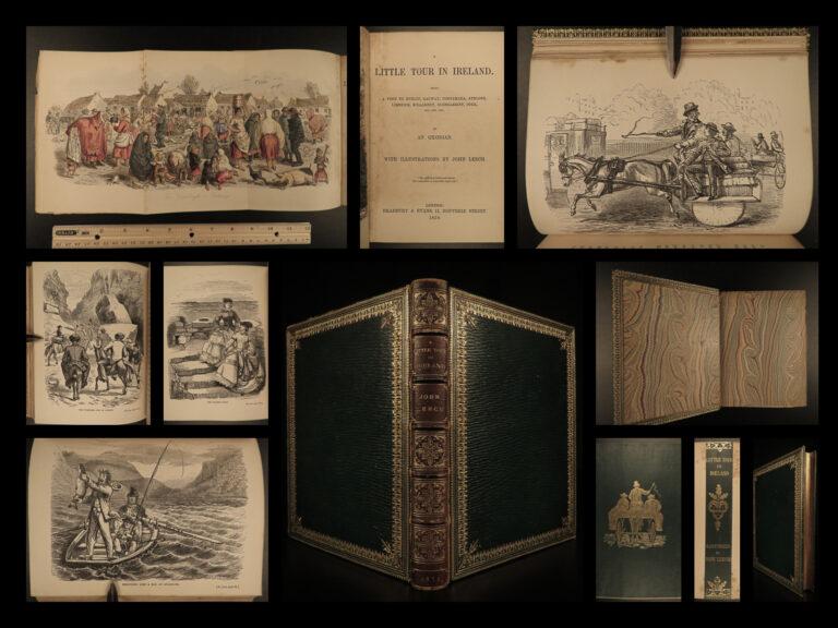 Image of 1859 IRELAND 1ed Little Tour in Dublin Killarney John Leech Illustrated Hole