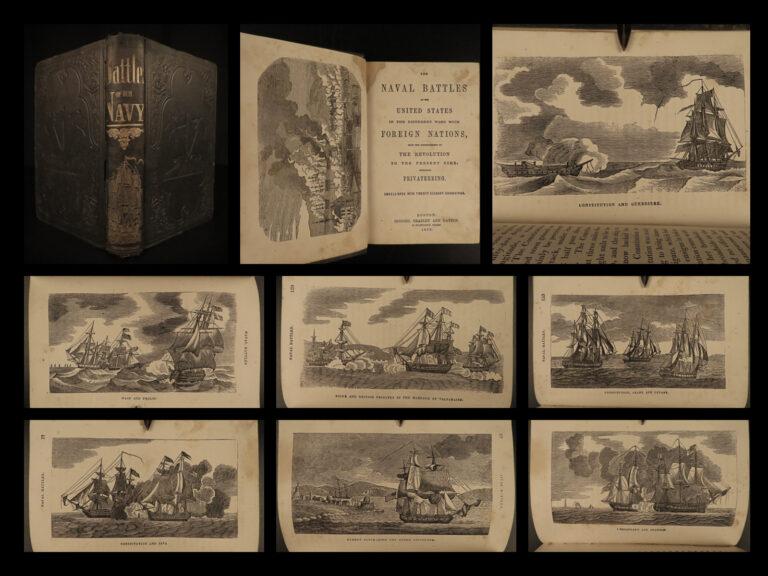 Image of 1859 USA Naval Battles US NAVY Ships Revolutionary WAR USS Constitution PIRATES