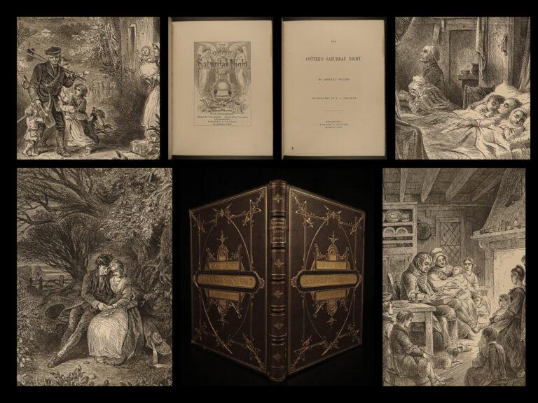 Image of 1872 EXQUISITE Robert Burns Cotter's Saturday Night Scottish Poetry Scotland