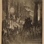 1887 John Milton Paradise Lost Gustave Dore Gallery Illustrated FOLIO Literature