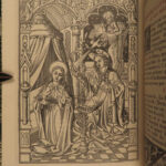 1884 EXQUISITE Catholic Book of Hours Illustrated Queyroy Art BINDING Breviary
