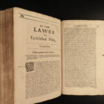 1662 1st ed Anglican Richard Hooker Laws Ecclesiastical Polity Church of England