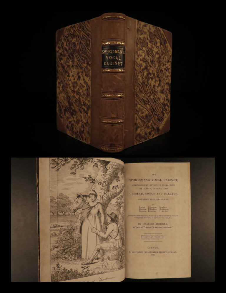 Image of 1830 1ed Sportsman Vocal Cabinet HUNTING Songs & Poems Fishing Cricket Archery