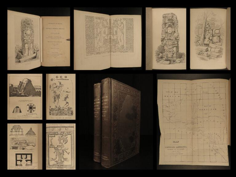 Image of 1855 Yucatan Incidents of Travel John Stephens MAYA Chiapas Mayan Archaeology 2v