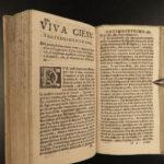 1683 Saint Francis de Sales Catholic MYSTICISM Bible Italian Venice Woodcuts