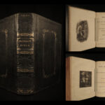 1839 EARLY American Holy BIBLE Polyglot Bagster Comprehensive Ten Eyck Family