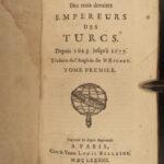 1683 Rycaut OTTOMAN Empire Turks Turkey ISLAM Sultan Murad IV Ibrahim Mehmed IV
