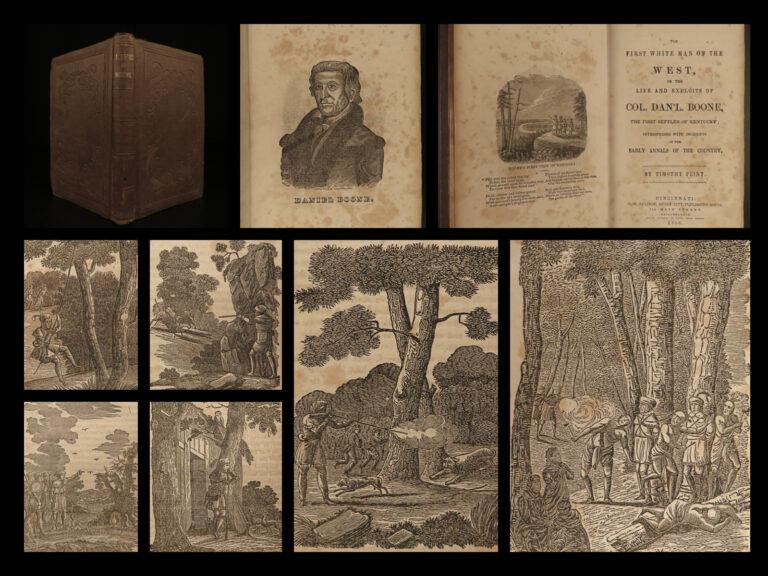 Image of 1856 Life of Daniel BOONE White Man INDIANS Frontier Missouri Kentucky Flint