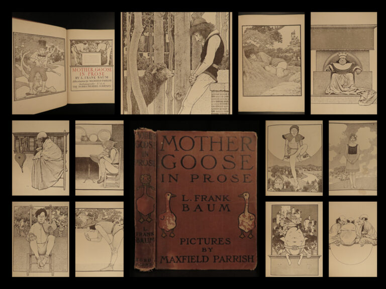 Image of 1905 Mother Goose by L Frank Baum Nursery Rhymes Parrish ART Illustrated Fantasy