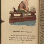 1940 1ed DISNEY Pinocchio Color Illustrated Fairy Tales Children's Baruch Collodi