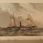 1868 US NAVY During Rebellion Civil War Union Warships Monitor Merrimack 2v SET