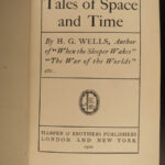 1900 HG Wells 1ed Tales of Space & Time Dystopian SciFi Martians Magic BINDING