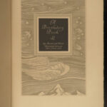 1931 SIGNED 1ed Rockwell Kent ART Birthday Book American Witches Angels Bizarre