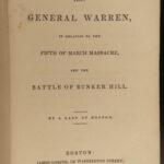 1835 1ed Gen Joseph Warren American Revolution Battle of Bunker Hill Paul Revere