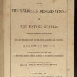 1848 1ed American Denominations Baptist Catholic Mormons Quakers Mennonite Amish