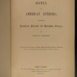 1853 1st ed Homes of American Authors Audubon Irving Bryant Emerson Webster