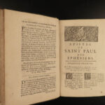 1699 Pasquier Quesnel French BIBLE & Commentary Jansenism Catholic 4v BANNED
