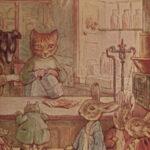 1905 Beatrix Potter Children Nursery Mrs Tiggy Winkle Jeremy Fisher Bunny 18v