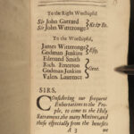 1690 1ed Dialogue Between Minister & Parishioner Anglican Treatise on LOVE Lambe