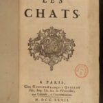 1727 1ed CATS Histoire Chats Egyptian Felines in Ancient Cultures Egypt Moncrif