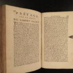 1718 French ROYAL ARMS Holy Week Breviary Missal Catholic Church King Louis XV