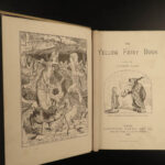 1894 1ed Yellow Fairy Book Andrew Lang Thumbelina Emperors New Clothes Andersen