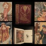 1903 1st ed Crimson Fairy Book Andrew Lang Russia Japan Magic Kettle Illustrated