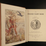1906 1st ed Orange Fairy Book Andrew Lang Fairy Tales Ugly Duckling Magic Mirror