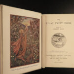 1910 1st ed Lilac Fairy Book Andrew Lang Color Illustrated IRISH Scottish Folklore