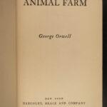 1946 1ed Animal Farm George Orwell Bolshevik Revolution Dystopian Socialism