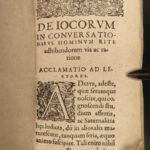 1602 JOKES Book 1ed Praxis Iocandi German Georg Draudius Humor Wit Conversation