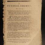 1786 1ed American Revolutionary WAR Funeral Sermon w/ Mormon Nauvoo Provenance