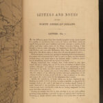 1841 1ed INDIANS George Catlin Letters on Native American Sioux Illustrated MAPS