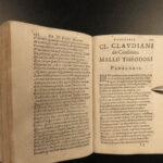 1635 Claudian Classical Roman Poetry Mythology Rufinus Gothic Wars Latin Giraldi