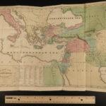 1832 Church History Marsh Jews Illustrated Color MAPS Pagans Pilgrims Quakers