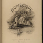 1876 Picturesque Europe Illustrated Scotland Spain Ireland ROME Ruins ALPS 2v