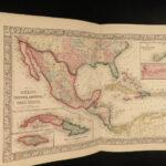 1864 HUGE Mitchell ATLAS Maps America City Plans Asia Texas Caribbean Africa