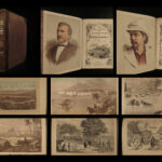 1880 RARE edition David Livingstone Discoveries Africa Voyages Maps Illustrated