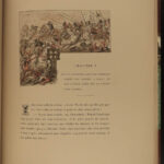 1886 BEAUTIFUL 1ed Legend of Montfort la Cane French Paul Chardin Illustrated