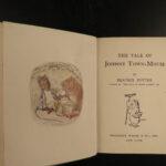 1905 Works of Beatrix Potter Children Lit 1st Mrs Tiggy Winkle Peter Rabbit 18v