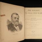 1890 HUGE Soldier in Our Civil War Illustrated Military Battles Lincoln 2v SET