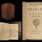 1684 Maxims of Princes & Kings Queen Elizabeth Henry IV Gustav II Huguenot Rohan