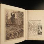 1910 Peter Pan in Kensington Gardens JM Barrie Arthur Rackham COLOR Illustrated